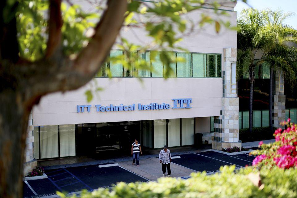 An ITT Technical Institute building in Vista, Calif., in 2016.