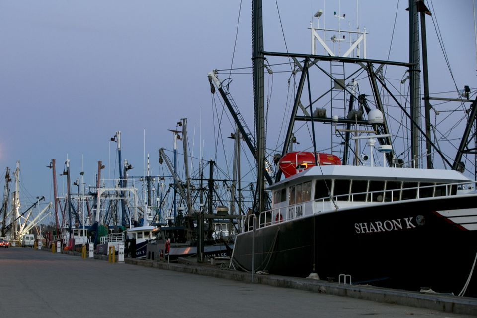 New Bedford is flush with money from the richest fishery in the nation — sea scallops. With many fishermen idle this time of year, the port is mobbed with clean, well-maintained scallopers.