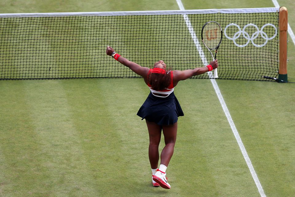 After a straight-set romp, Serena Williams could add gold medalist to her stellar résumé.