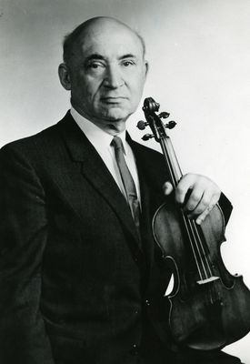 Louis Krasner, violinist and teacher at New England Conservatory.