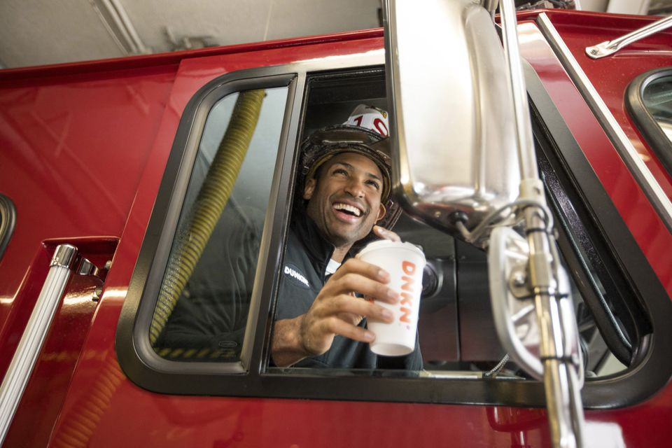Celtics forward Al Horford hung out with members of the Boston Fire Department's Ladder 19 crew on Wednesday.
