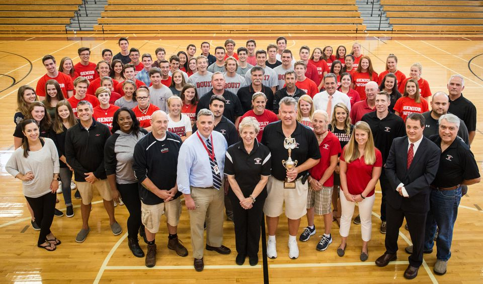 Under the direction of John Brown (trophy), the Wellesley High athletic program has captured the Ames Division 2 trophy three of the past four years.