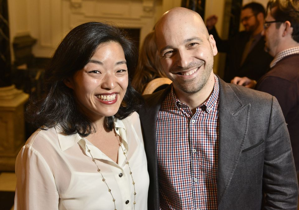 Patricia Park and Christopher Castellani at the Cashman party.