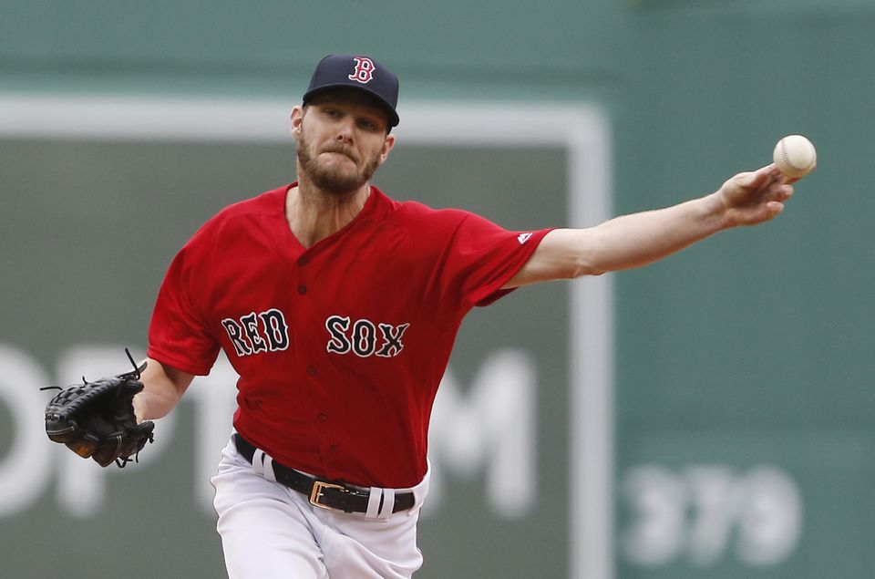 Chris Sale pitched five innings and got a no-decision in the Red Sox' 7-4 loss to the Tigers.