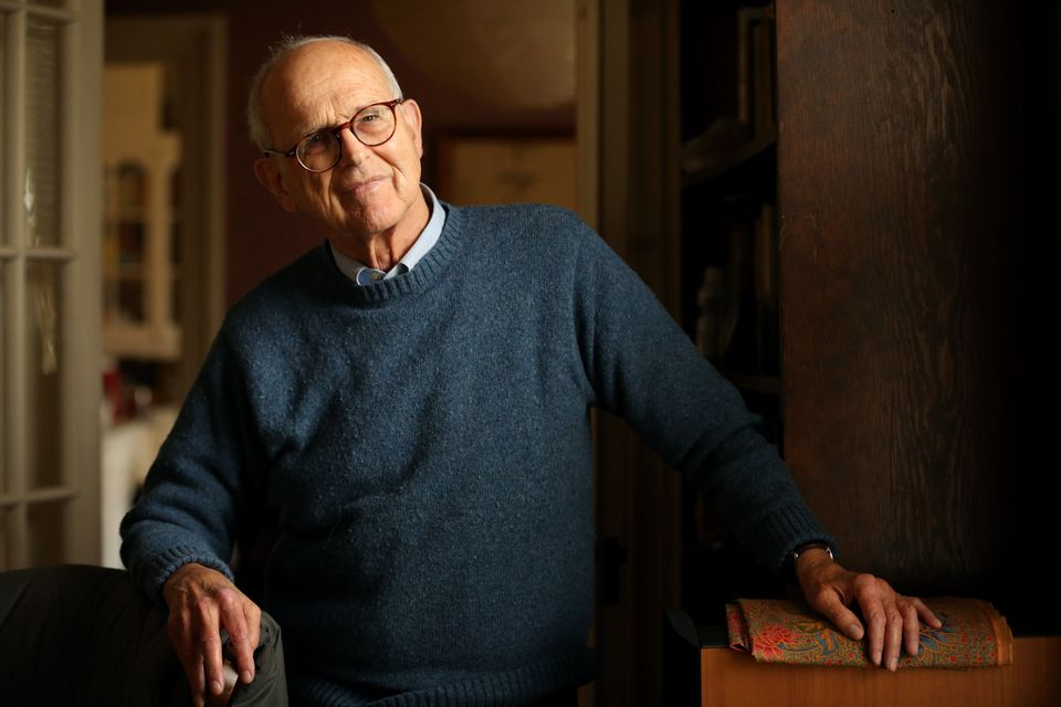 Rainer Weiss, at his home in Newton, is a professor emeritus at MIT, where he still works six days a week.