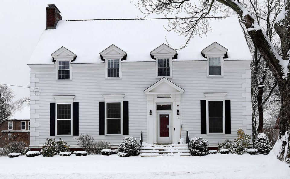 The Chi Omega sorority house at Tufts University in Medford.