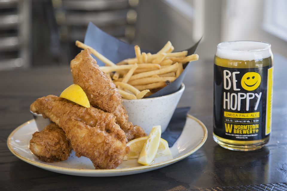 The fish and chips at Civic Kitchen + Drink in Westborough.