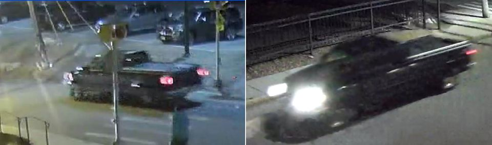 The Middlesex district attorney's office says these surveillance images show the truck involved in last week's fatal hit-and-run in Somerville.