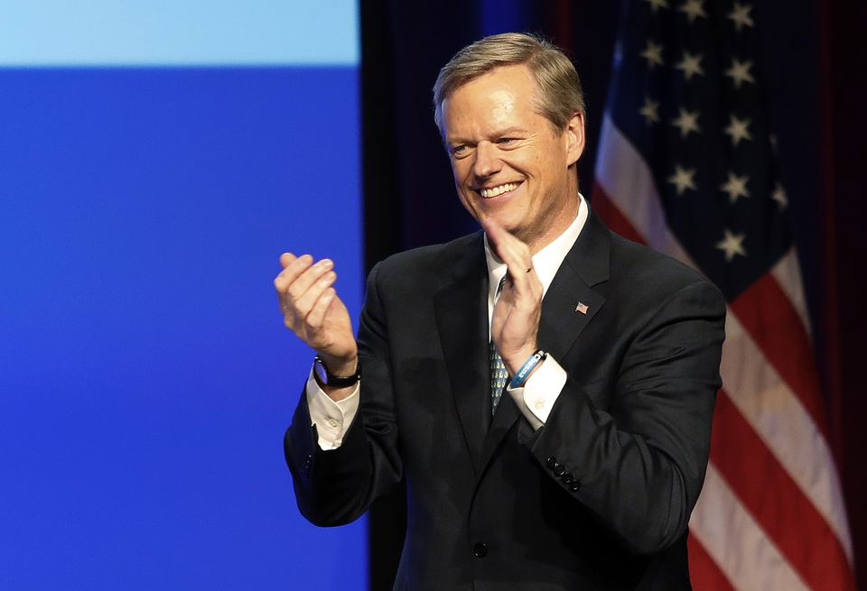 Governor Charlie Baker applauded supporters during a rally celebrating his reelection Tuesday in Boston.