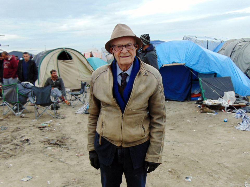 Harry Leslie Smith visited the Calais migrant camps in France in 2016. Mr. Smith took up writing at age 87 and blossomed into a potent polemicist and agitator.