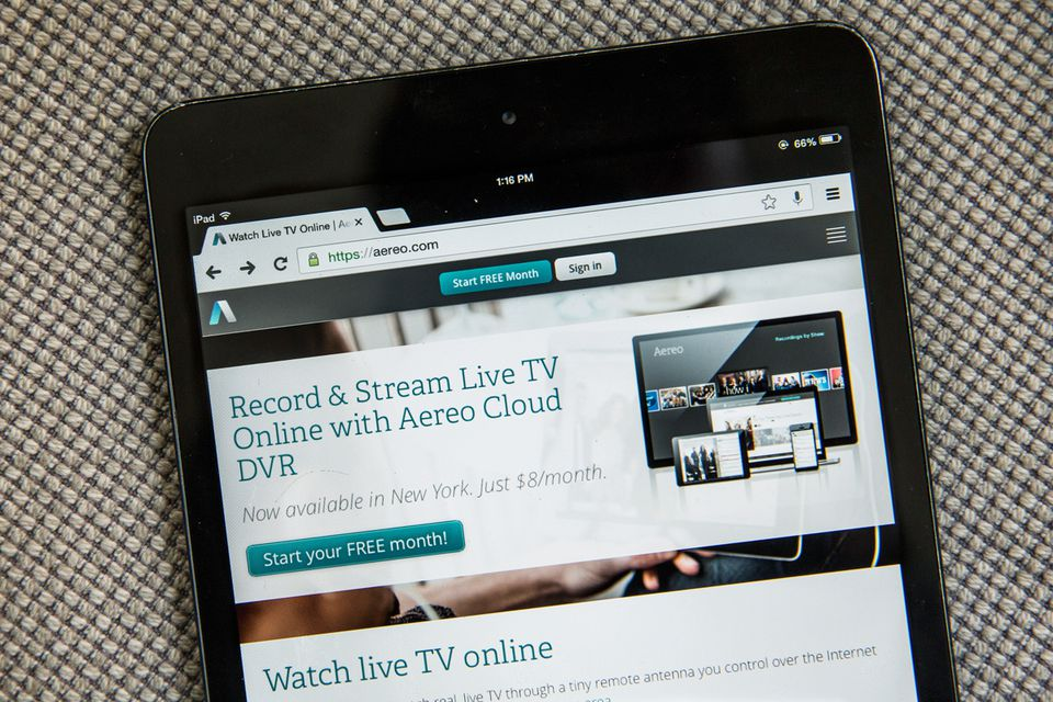 Aereo built a service that grabs free, over-the-air signals broadcast by affiliates of major networks.