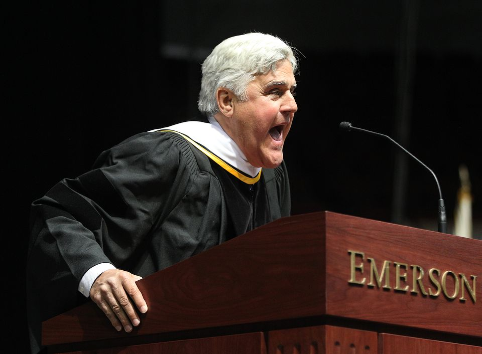 Jay Leno is among the famous comedians to graduate from Emerson College.