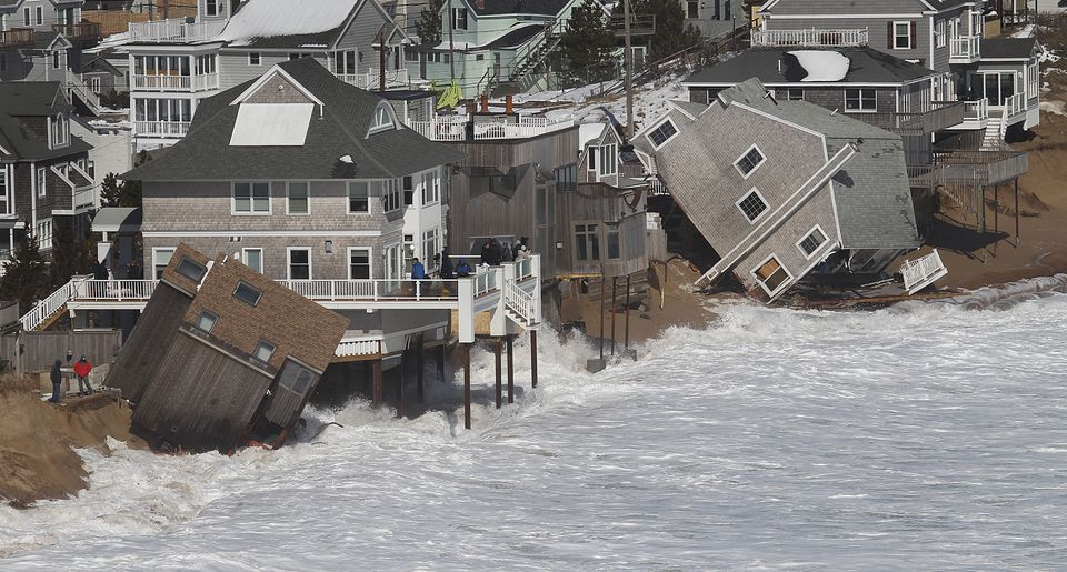 Damage on Plum Island from a 2013 storm.