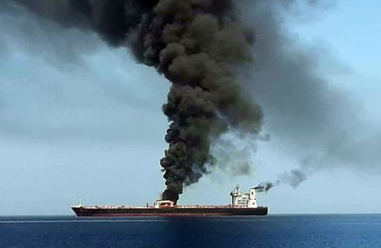 US blames Iran for attacks on 2 tankers near Persian Gulf