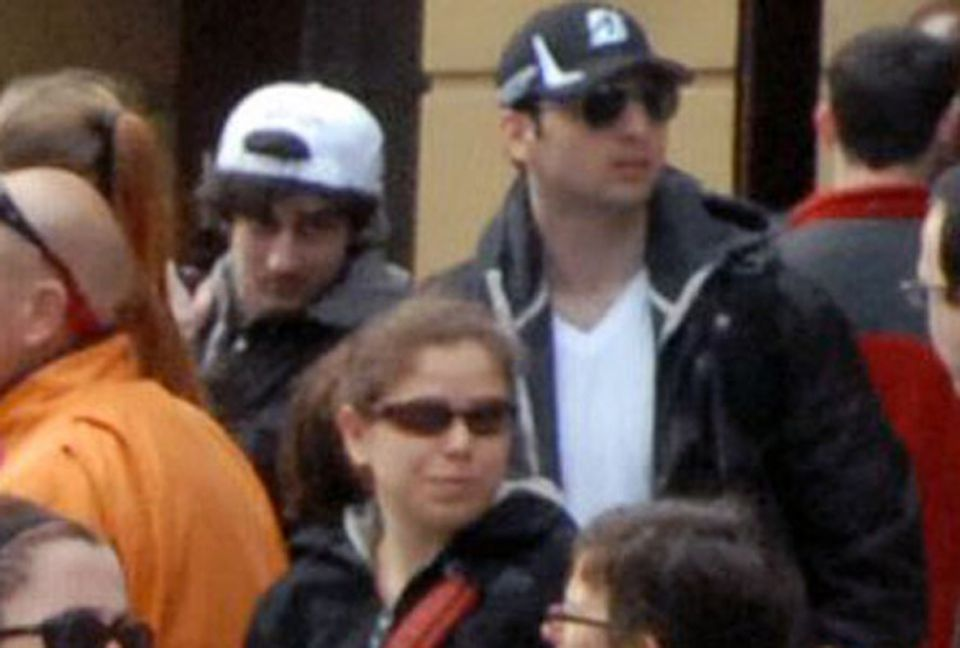 Dzhokhar Tsarnaev (left) and older brother Tamerlan were caught on video 10 to 20 minutes before the April 15, 2013, terror attack in Boston.