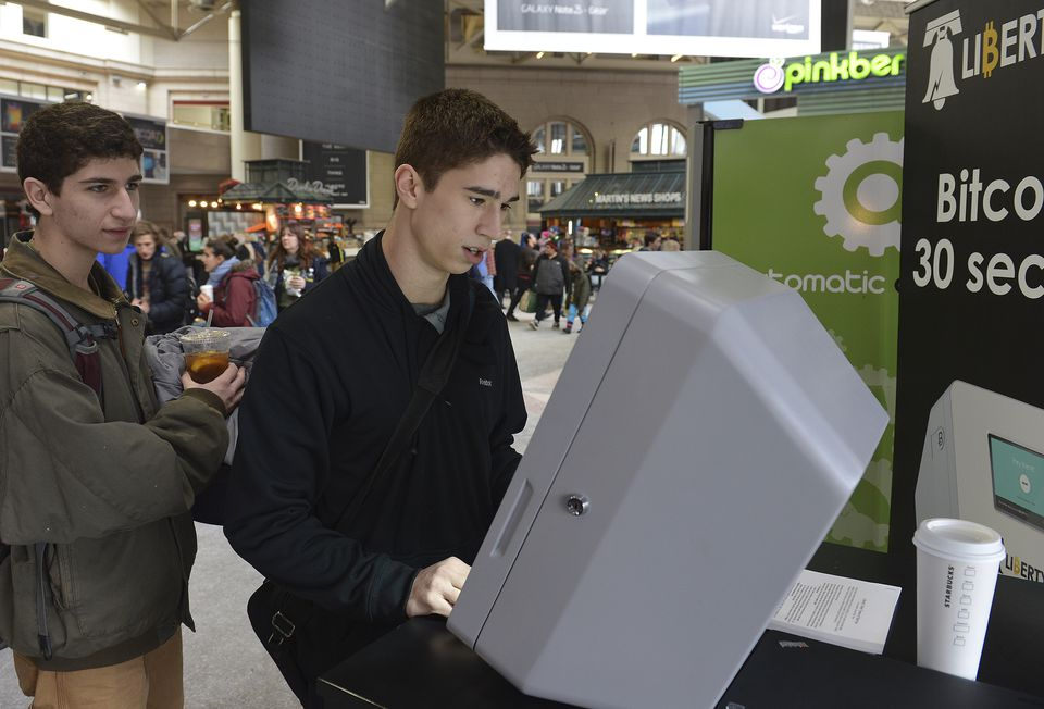 A Liberty Teller bitcoin machine was placed in South Station in February 2014.