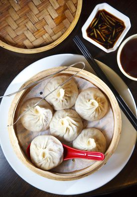 Dumpling Cafe serves the best xiao long bao, a.k.a. mini juicy buns.