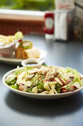 Chicken salad with apples.