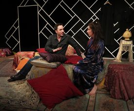 """Geoff Van Wyck and Alison Meirowitz McCarthy play two of the three characters exploring a variety of issues in """"Threesome"""""""