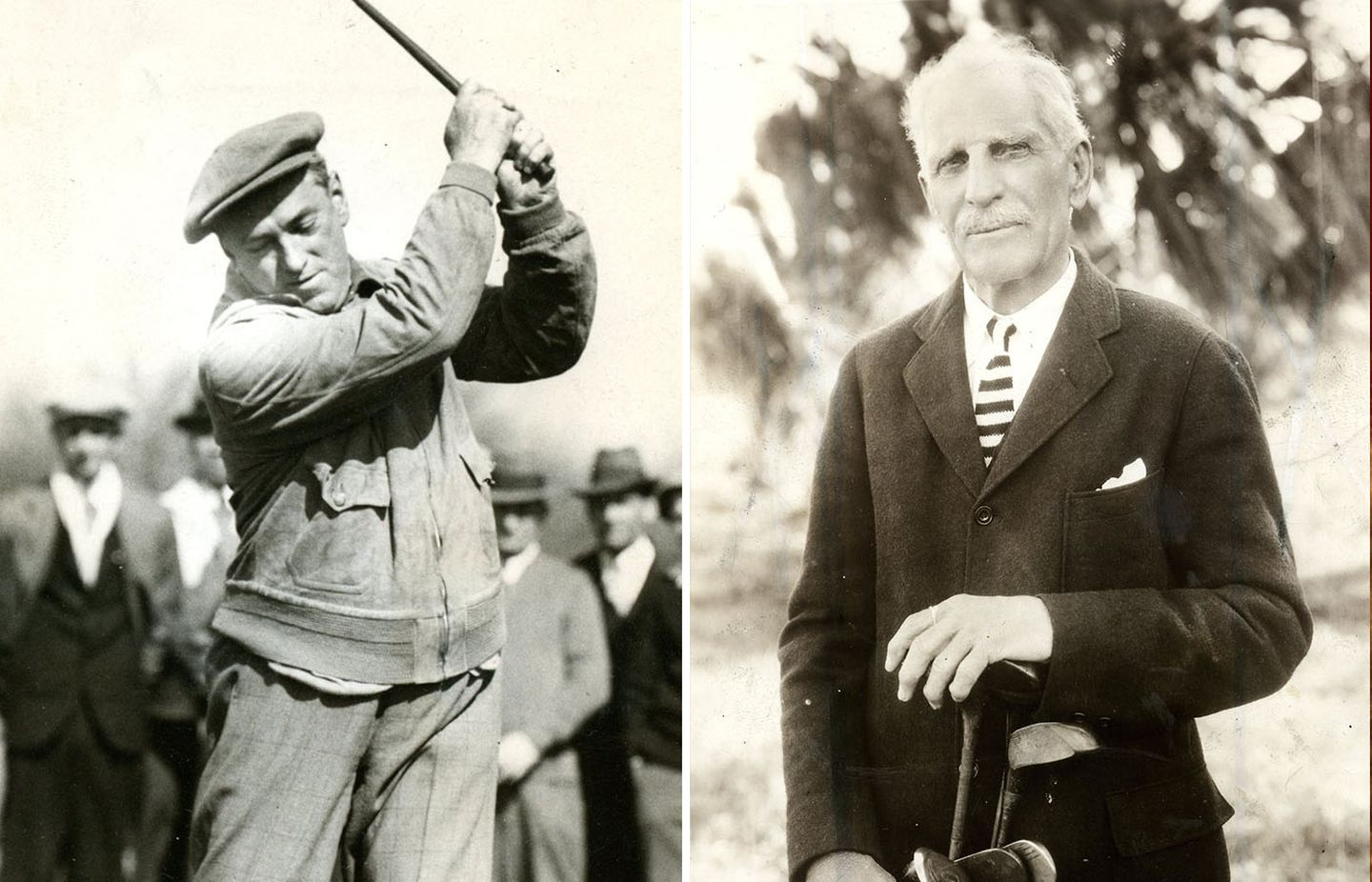 Mayor James M. Curley (left) opened the season at Franklin Park Golf course on April 17, 1931, and George Wright (right), a big league baseball player and golf course designer, on Dec. 26 1934.
