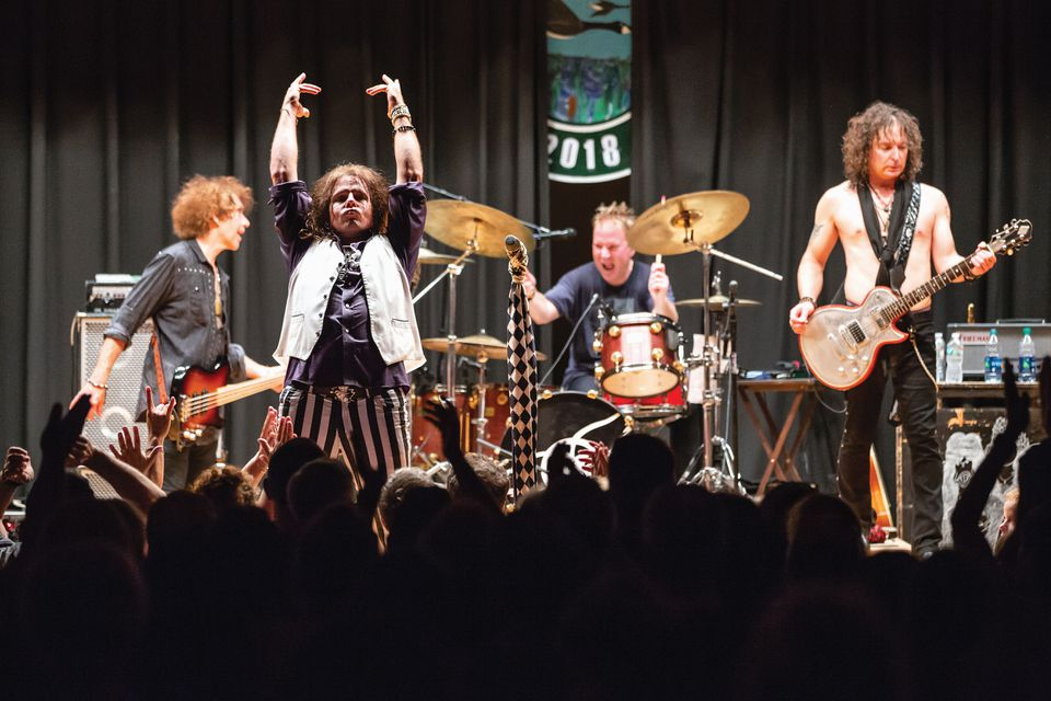 Draw The Line performing in Sunapee, New Hampshire, where Aerosmith principals Steven Tyler and Joe Perry met as teenagers.