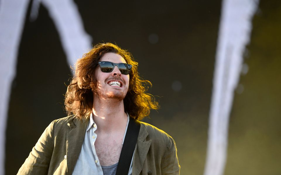 Hozier performs on the second day of the Coachella Music Festival in Indio, Calif., in April 2015.