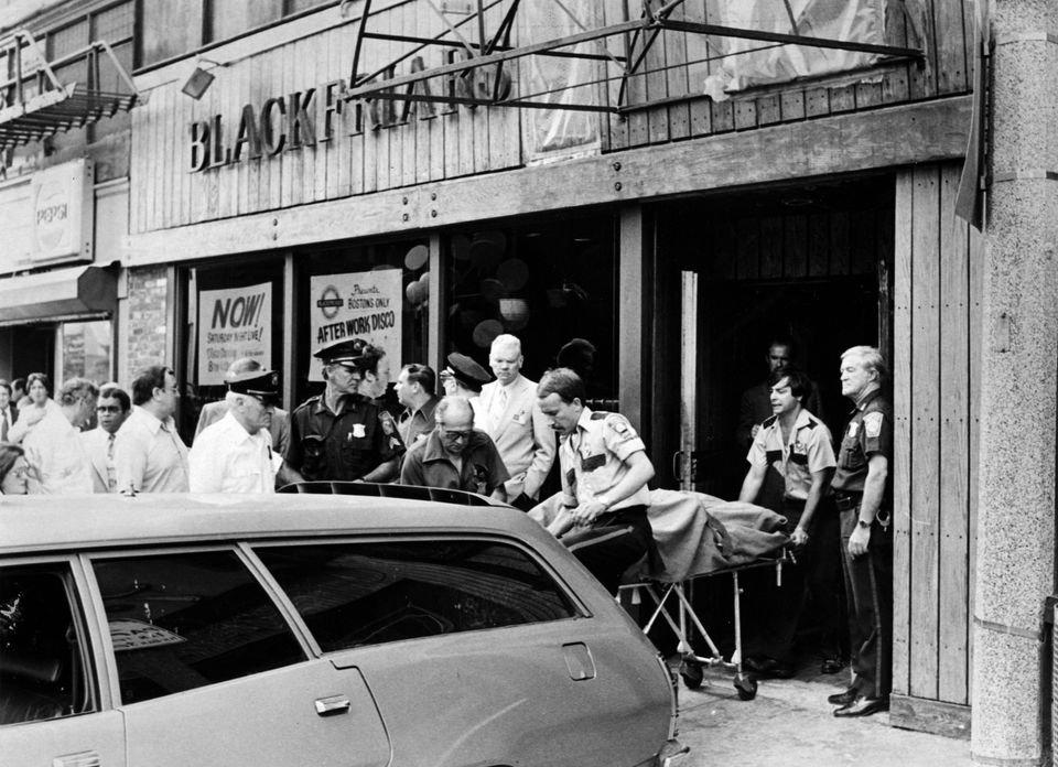 One of the five bodies was removed from the Blackfriars Pub on Summer Street on June 28, 1978.