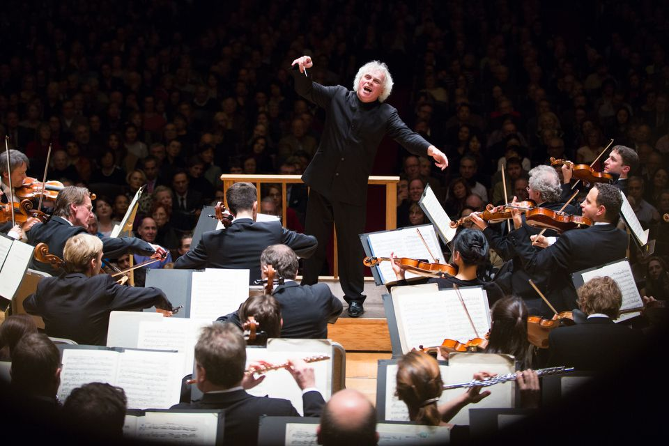 Sir Simon Rattle and the Berlin Philharmonic, Friday night at Symphony Hall.