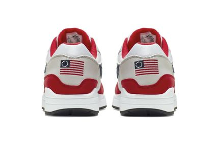 wholesale dealer c159f 8694b The flag depicted on the Nike Air Max 1 Quick Strike Fourth of July sneaker  is