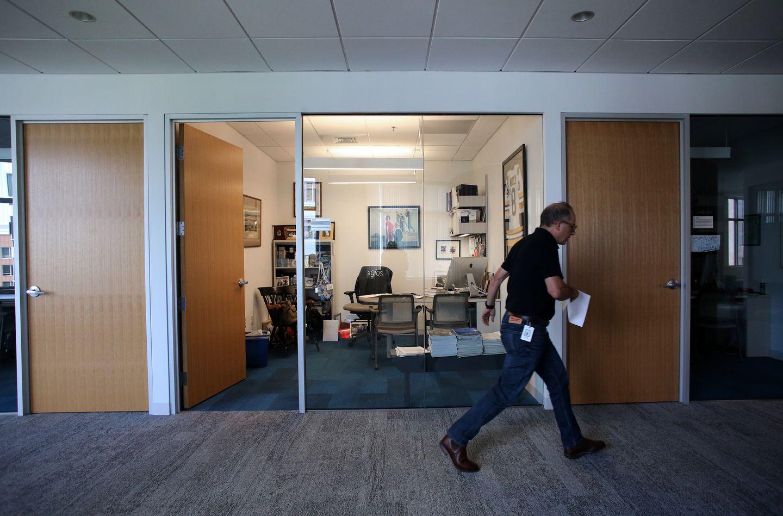 Dr. David Schenkein's office at Agios Pharmaceuticals Inc. in Cambridge.