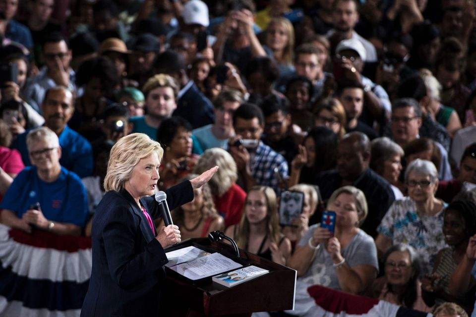 Hillary Clinton spoke Tuesday at a rally in Tampa, Fla.