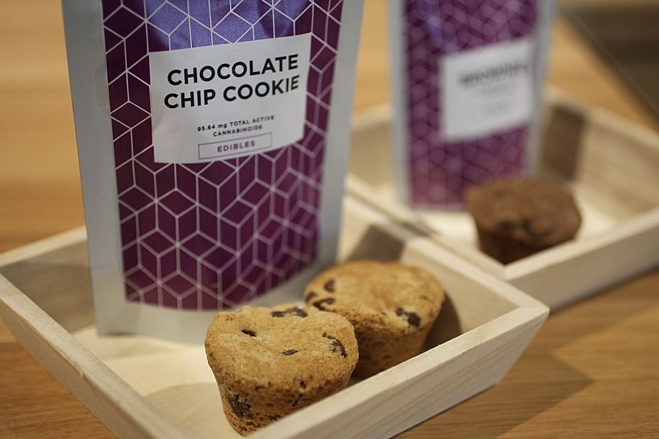 The chocolate chip cookie, pictured here, is one of the edible medical marijuana offerings at Cultivate.
