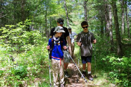 Essex County braille trail opens the woods for blind hikers - The