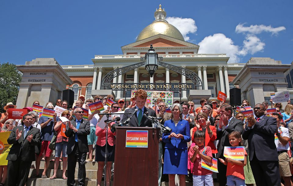 A recent State House rally of gun control advocates drew US Representatives Joseph Kennedy III and Katherine Clark, Massachusetts Attorney General Maura Healey, Mayor Marty Walsh, and other speakers.