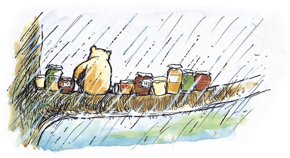 """An Ernest H. Shepard illustration from """"Winnie-the-Pooh: Exploring a Classic."""""""