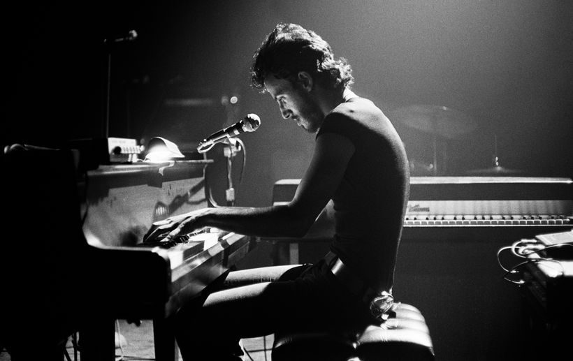 Bruce Springsteen at the Harvard Square Theatre in 1974.