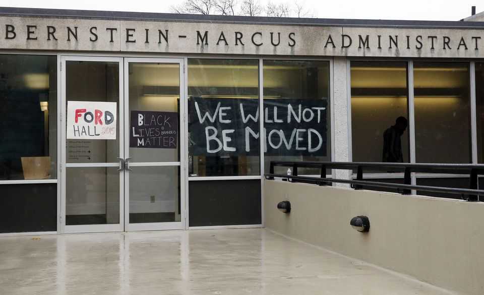Students say they will not leave the Bernstein-Marcus Administrative Center until their demands are addressed.