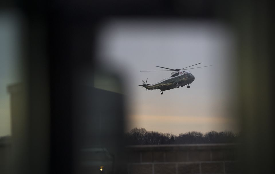 Trump arrived at Dover Air Force Base, Del., on Feb. 1 to meet with the family of a Navy SEAL killed during an operation in Yemen.
