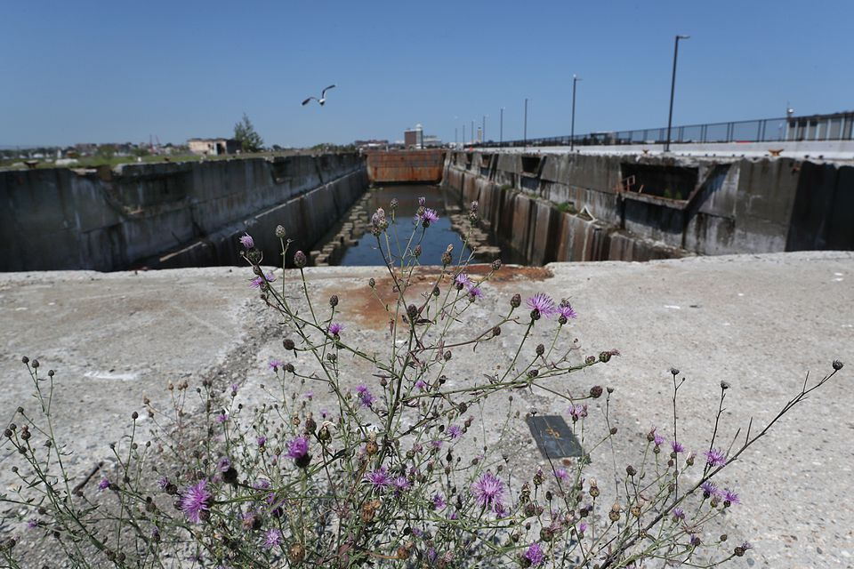 This dry dock has been shuttered for four decades.