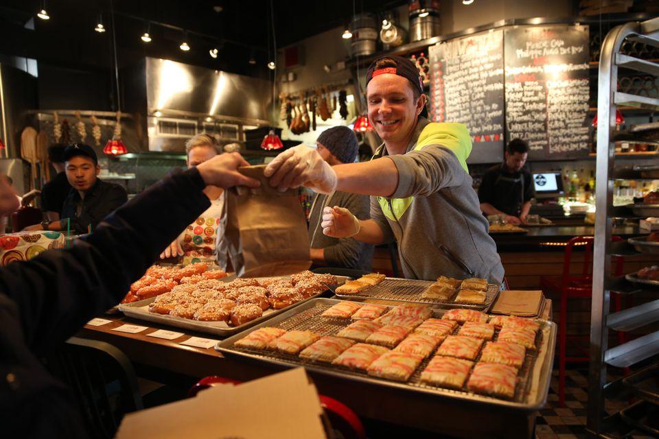 Justin Burke-Samson served up his trademark tarts at Boston's Salty Pig in 2014.