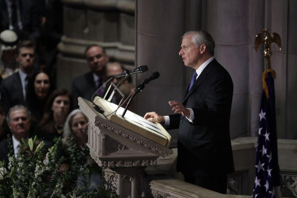 Presidential biographer Jon Meacham spoke during the funeral for George H.W. Bush.