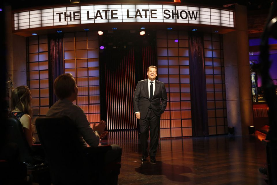 """James Corden stepped on stage for the first episode of """"The Late, Late Show with James Corden."""""""