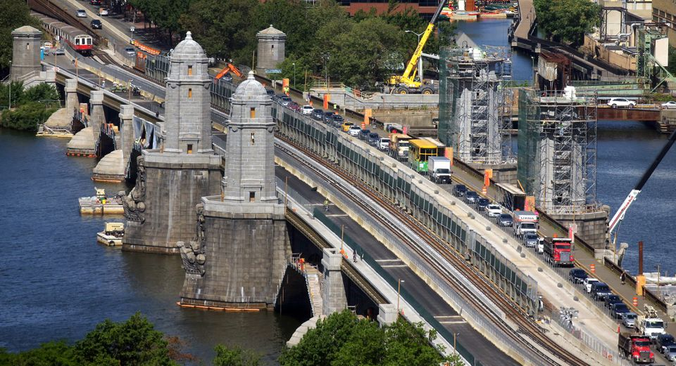 The Longfellow Bridge renovation has used an old form of riveting that had fallen out of use.