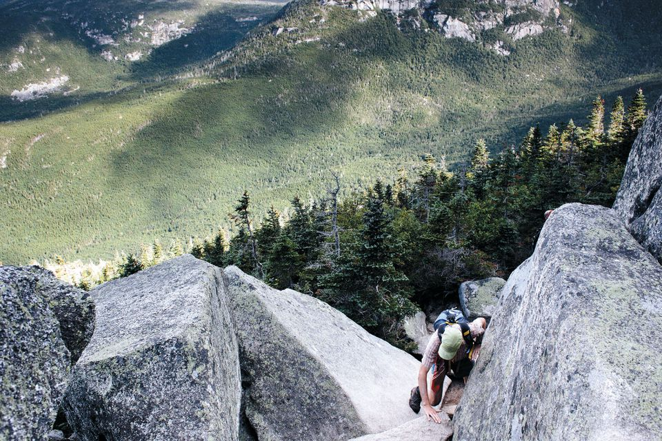 Climbing the final segments  of Mount Katahdin in Maine,  the end of the line for the 2,190-mile Appalachian Trail.
