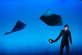 "Zachary Kapeluck of BalletX in ""Sunset, o639 Hours."""