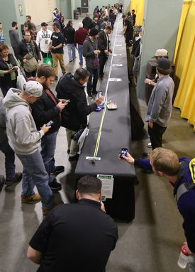 A star attraction Saturday was Beantown Greentown's 100-foot-long joint.