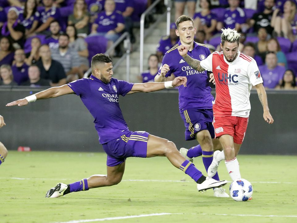 When the Revolution last played Orlando, they settled for a 3-3 tie; Diego Fagundez (right) is looking for a little more Saturday — as well as some help from above.