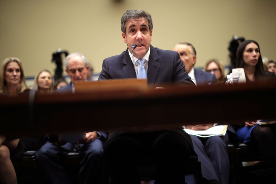 Michael Cohen testified before the House Oversight and Reform Committee on Capitol Hill on Wednesday.