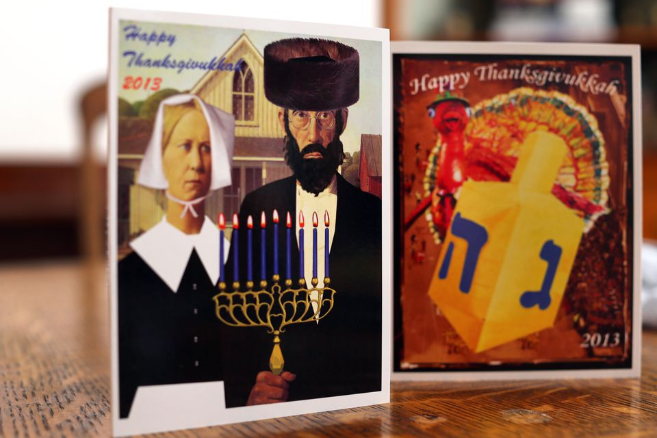 """Dana Gitell, a marketing specialist at NewBridge on the Charles, a Dedham retirement community, came up with the term """"Thanksgivukkah."""""""