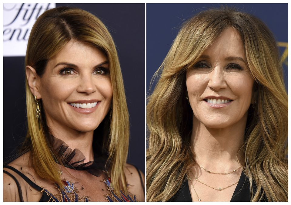 Actresses Lori Loughlin (left) and Felicity Huffman are among 13 parents scheduled to appear in federal court in Boston on Wednesday amid a nationwide college admissions cheating scandal.